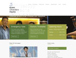 kneeshoulderinjury.com screenshot