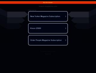 kneon-magazine.com screenshot