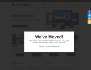 knethosting.co.uk screenshot