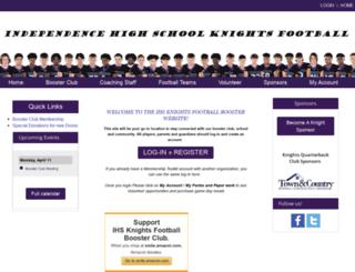 knightsfootballboosterclub.com screenshot