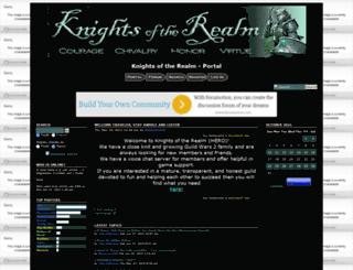 knightsoftherealm.forumotion.com screenshot