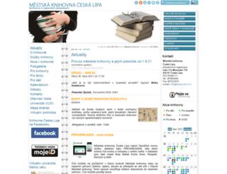 knihovna-cl.cz screenshot