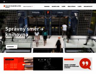 knihovna.utb.cz screenshot