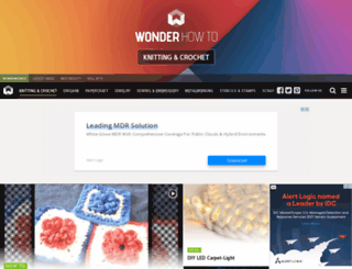 knitting-crochet.wonderhowto.com screenshot