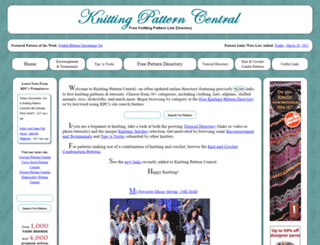 knittingpatterncentral.com screenshot