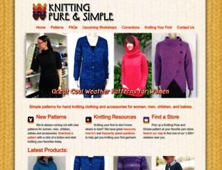 knittingpureandsimple.com screenshot
