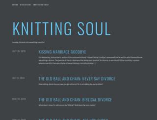 knittingsoul.wordpress.com screenshot