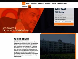 knmodifoundation.com screenshot
