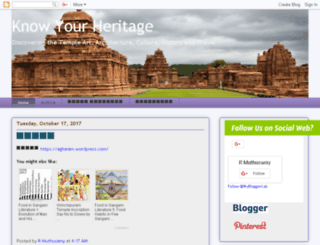 know-your-heritage.blogspot.in screenshot