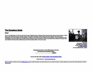 knowhere.co.uk screenshot