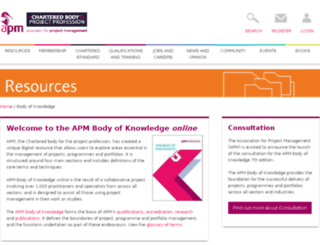 knowledge.apm.org.uk screenshot