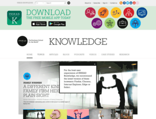 knowledge.insead.edu screenshot