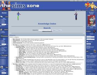 knowledge.thesimszone.co.uk screenshot
