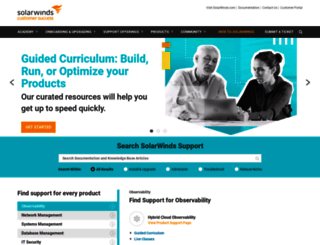 knowledgebase.solarwinds.com screenshot
