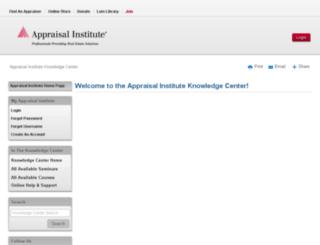 knowledgecenter.appraisalinstitute.org screenshot