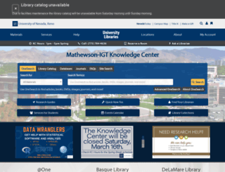 knowledgecenter.unr.edu screenshot
