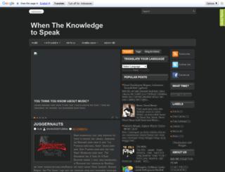 knowledgetospeak.blogspot.com screenshot