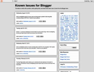 knownissues.blogspot.com screenshot