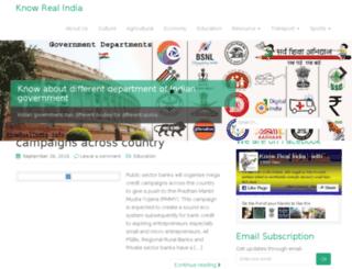 knowrealindia.info screenshot