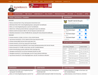 knowresults.co.in screenshot