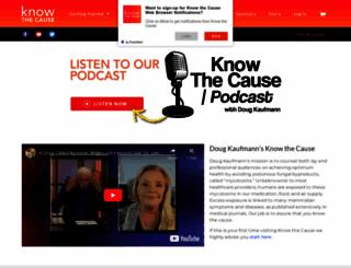 knowthecause.com screenshot