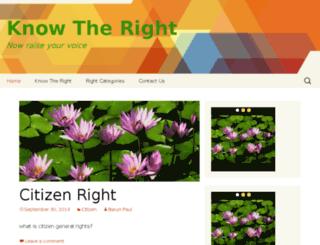 knowtheright.com screenshot