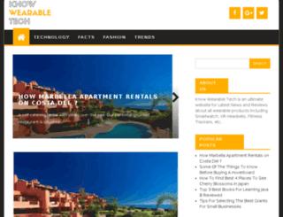 knowwearabletech.com screenshot