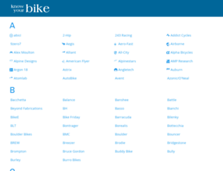 knowyourbike.com screenshot