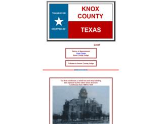 knoxcountytexas.com screenshot