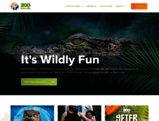 knoxville-zoo.org screenshot