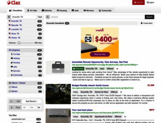 knoxville.claz.org screenshot