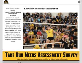 knoxville.k12.ia.us screenshot