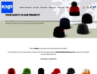 knpheadwear.com screenshot