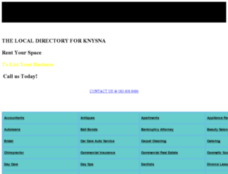 knysnaarea.com screenshot