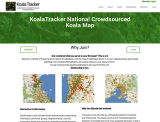 koalatracker.com.au screenshot