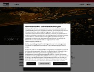 koblenz-touristik.de screenshot