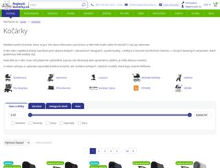 kocarky.detske-kocarky.eu screenshot