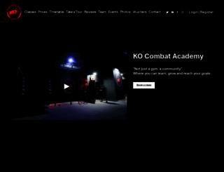 kocombatacademy.com screenshot