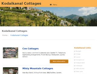 kodaikanalcottages.org screenshot
