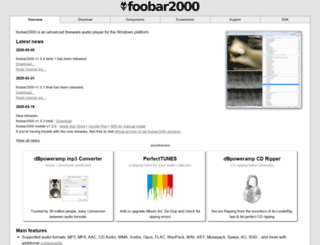 kode54.foobar2000.org screenshot