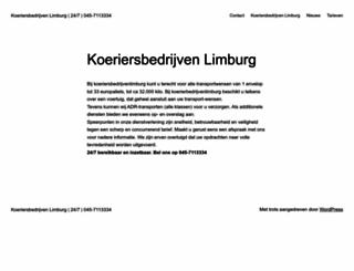 koeriersbedrijvenlimburg.nl screenshot