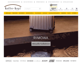 koffer-kopf.de screenshot