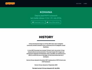 kohanaframework.org screenshot