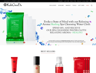 kohgendocosmetics.com screenshot