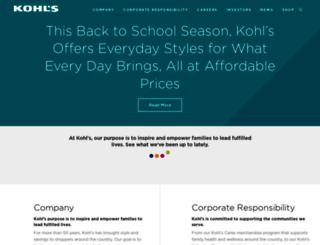 kohlscorporation.com screenshot