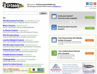 kohlscouponprintable.org screenshot