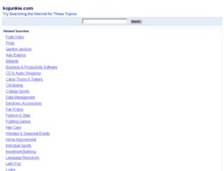 kojunkie.com screenshot