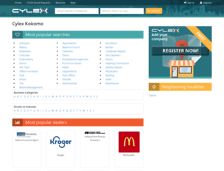 kokomo.cylex-usa.com screenshot