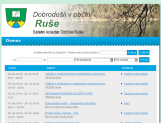 koledar-dogodkov.ruse.si screenshot