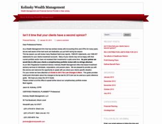 kolinskywealthmanagement.wordpress.com screenshot